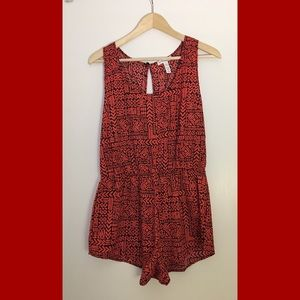 Ambiance Apparel Tribal Print Romper, Size Large